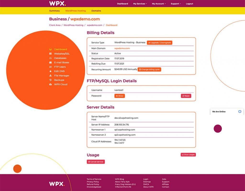 WPX Dashboard