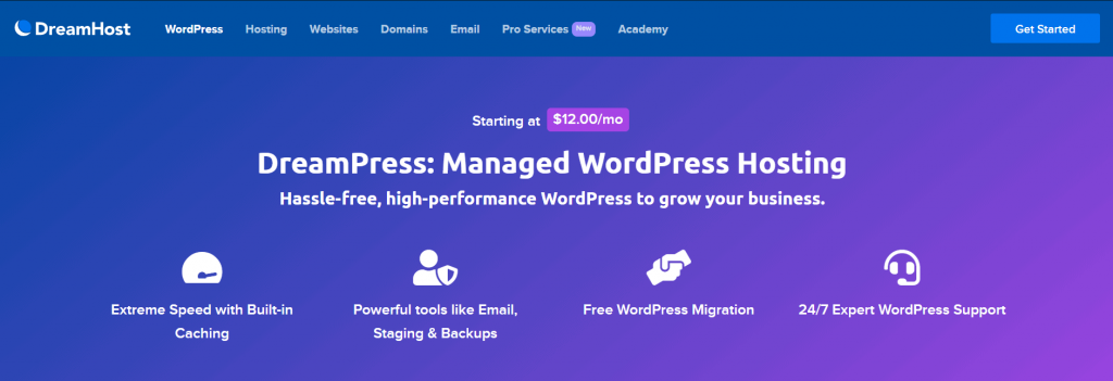 dreamhost managed wordpress hosting