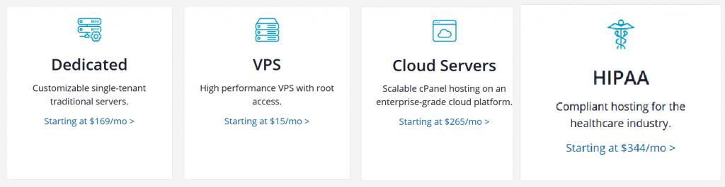 Liquid web hosting package